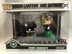 Funko-Pop-Heroes-271-Green-Lantern-amp-Batman-Comic-Moments-Jim-Lee-Gamestop-Excl