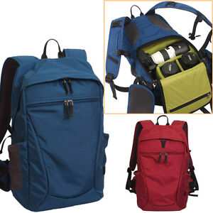 Men-Women-Waterproof-DSLR-Camera-Backpack-Padded-Insert-15-034-Laptop-Bag-Rucksack