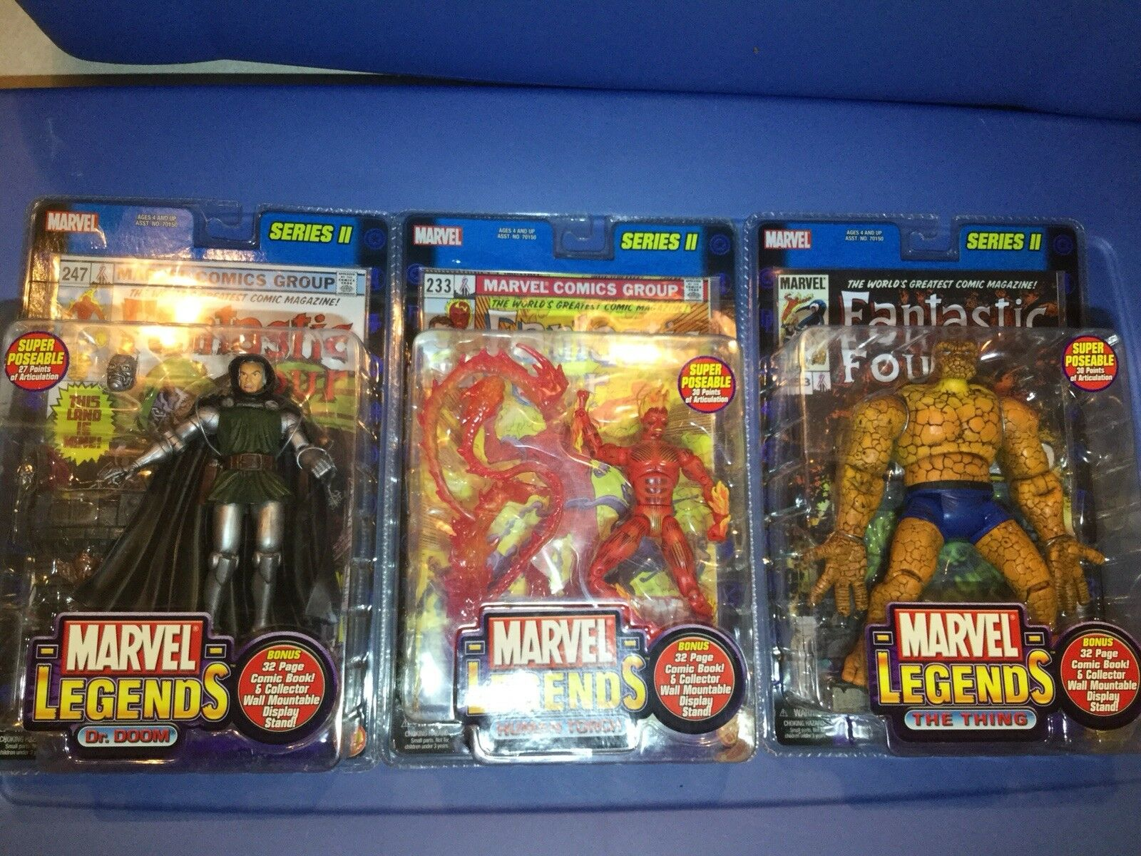 Marvel Legends speelgoedBiz Complete serie 2 Dr Doom, Thing, Human Torch (zie descrip