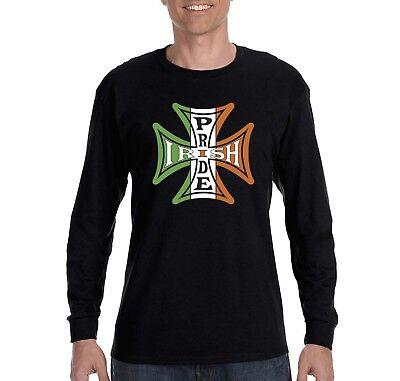 Gaelic Pride Irish Shamrock Celtic Cross St Patrick/'s Day Mens Hoodie Sweatshirt