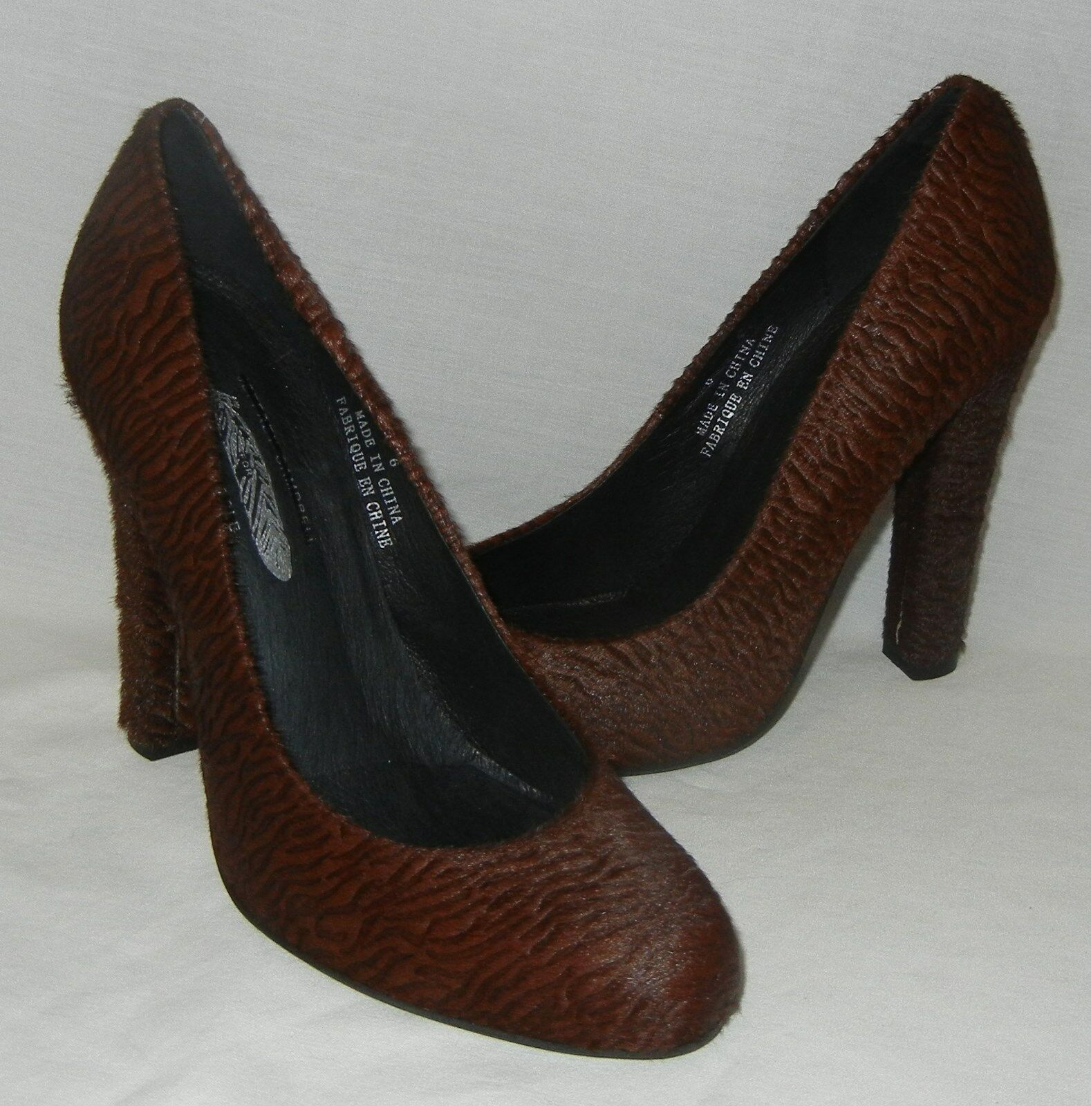 Jeffrey Campbell Women's Valencia Brown Leather Pumps Heels Retail  148 size 7.5