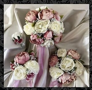 Bouquet Sposa Peonie.Wedding Flowers Dusky Pink Peonies Bouquet Bride Bridesmaids