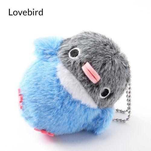Genuine Chun Chun Kotori Amuse Fluffy Bird Plush Ball Chain Keychain Sakura Cute