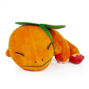 New 11/'/' Sleeping Charmander Plush Toy Pokemon Soft Stuffed Animal Doll Gift