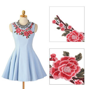 DIY-Lace-Embroidered-Floral-Neckline-Patch-Collar-Trim-Clothes-Sewing-Applique