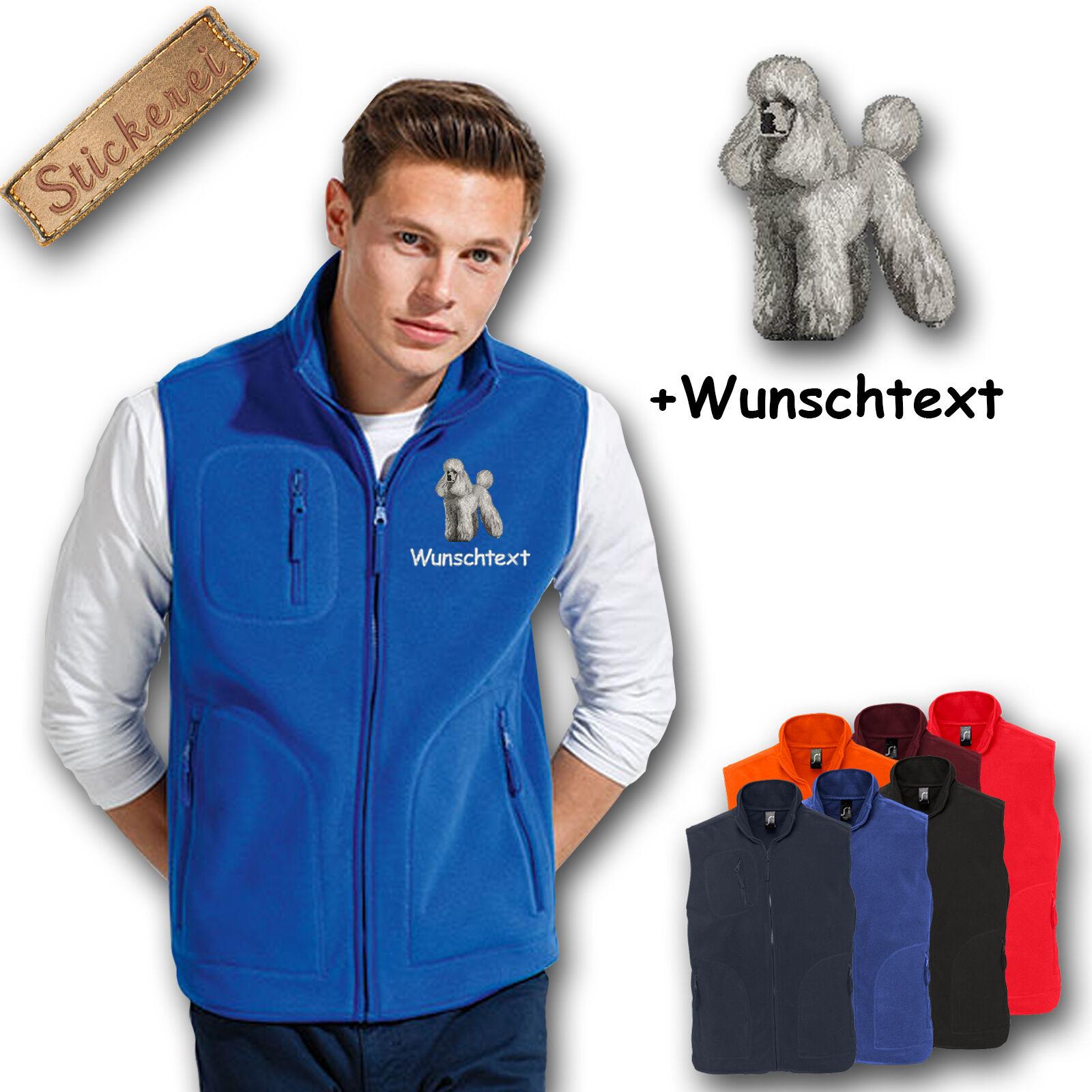 Fleece Vest Fleece Vest Embroidered Embroidery Poodle + Name