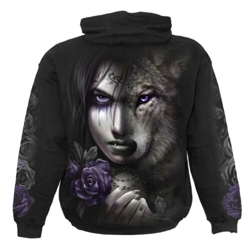 Hooded wild Soul moon Direct native Spiral howling Wolf hoodie pullover Wolves t8wnqF1