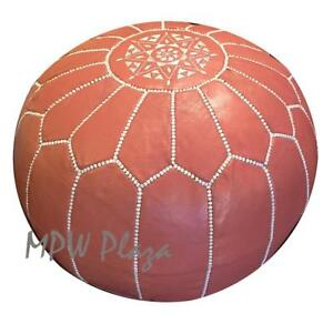 Marvelous Moroccan Pouf Ottoman Coral By Mpw Plaza Stuffed Ebay Short Links Chair Design For Home Short Linksinfo