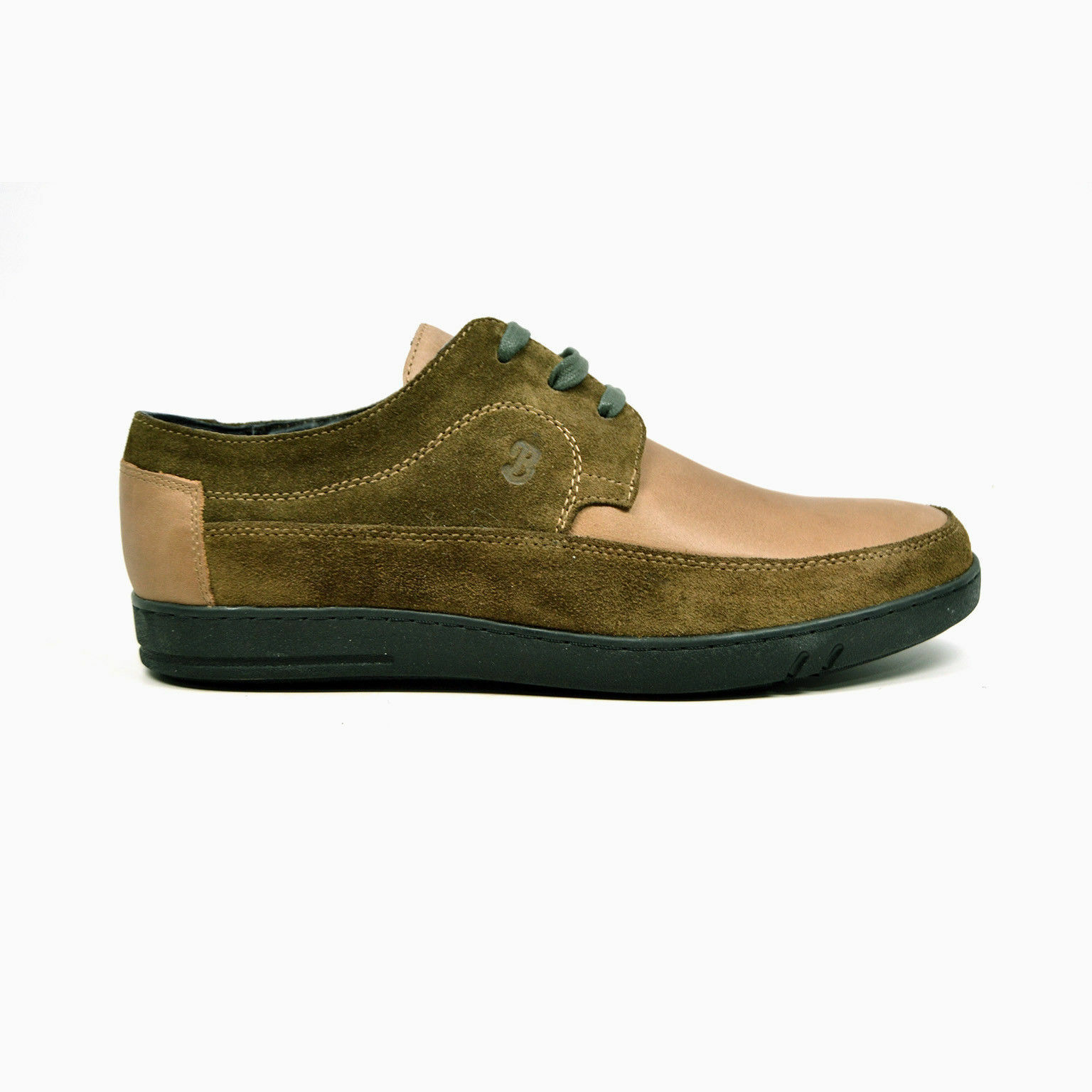MENS BRITISH WALKERS ORIGINAL BRISTOL TWO TONE OLIVE GREEN SUEDE LEATHER SHOES