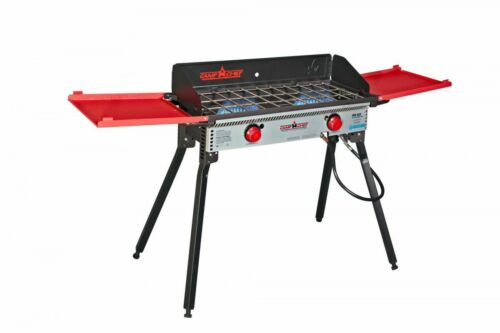 PRO60X Base Camp Stove Black and Red Camp Chef Pro 60X 2 Burner Stove