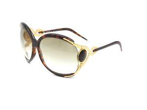 "Vintage Roberto Cavalli Oversized ""Snake"" Sunglasses, Tortoise - Gold #S49"