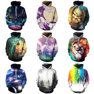 3D-Graphic-Print-Hoodie-Sweater-Men-Women-039-s-Sweatshirt-Jacket-Coat-Pullover-Tops