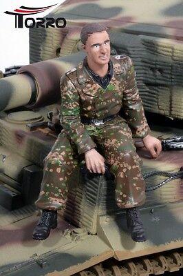 Neuheit Panzer Figur Resin 1:16 Figur Funker der Tiger Besatzung sitzend bemalt