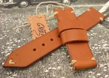 Watch strap 24 vintage genuine Italian leather per Panerai e simili fatto a mano