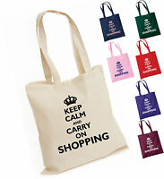 NEW KEEP CALM AND CARRY ON SHOPPING TOTE / SHOPPING BAG