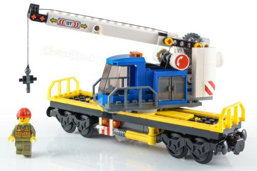 LEGO ® City ferroviaire kranwaggon avec grutier de train de marchandises 60198 nouveau