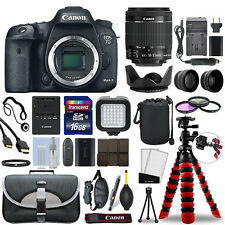 Canon EOS 7D Mark II DSLR Camera with 18-55mm Lens + 16GB Mega Accessory Bundle