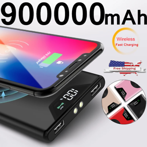 NEW-900000mAh-Qi-Wireless-Power-Bank-2-USBFast-Charging-Battery-Charger-Pack
