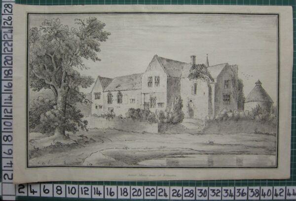 100% QualitäT 1803 Große Gloucestershire Aufdruck ~ Rodmarton Historische Manor House