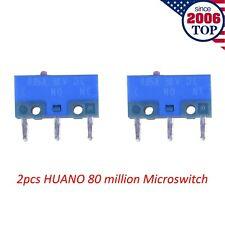 2pcs Huano Pink Dot Blue Shell Mouse Micro Switch Microswitch 80 Million Clicks