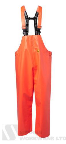 Viking Rubber Premium Bib and BRACE Pantalon Pêche Agriculture imperméable orange