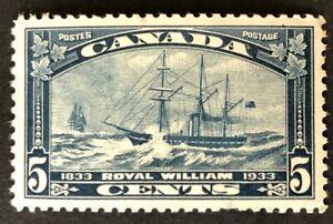 CANADA - 1933 # 204 5c BLUE - ROYAL WILLIAM - MLH VF