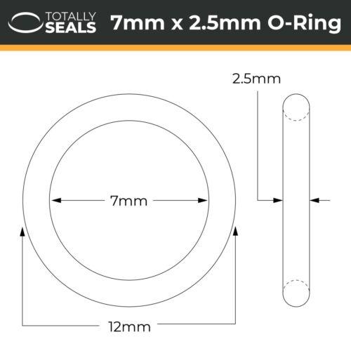 Vmq 12mm 7x2.5 Silikon O-Ringe 7mm Innendurchmesser X 2.5mm Kreuz Bereich