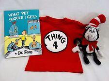 Universal Studios Dr. Seuss T3 T-shirt, Book, & Plush Stuffed Animal