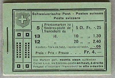 Schweiz Markenheftchen Mh 18 D Pedolin Chur Unfall Zürich Mnh Postfrisch Schrecklicher Wert S622