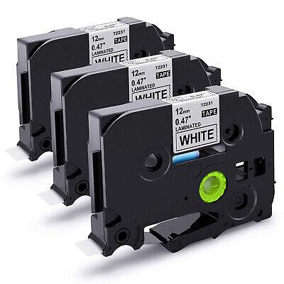 3 Schriftbänder kompatibel zu Brother P-Touch TZE-FX521 8m//9mm Schwarz auf Blau