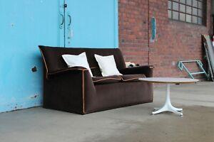 Details zu B & B Italia Zweiersofa Lauriana, braun Stoff dunkelbraun Luxus  Couch