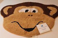 Saturday Knight Jungle Monkeys Rug For Children's Bathroom Monkey Face Mat