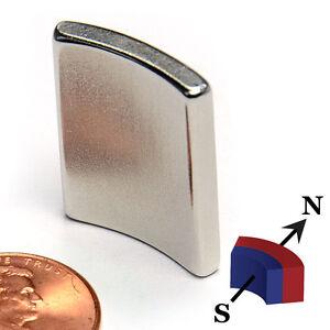 """CMS Magnetics® N42SH ARC Neodymium Magnet OD2.0xID1.75xL1.0""""x45 Degree ID N Pole"""