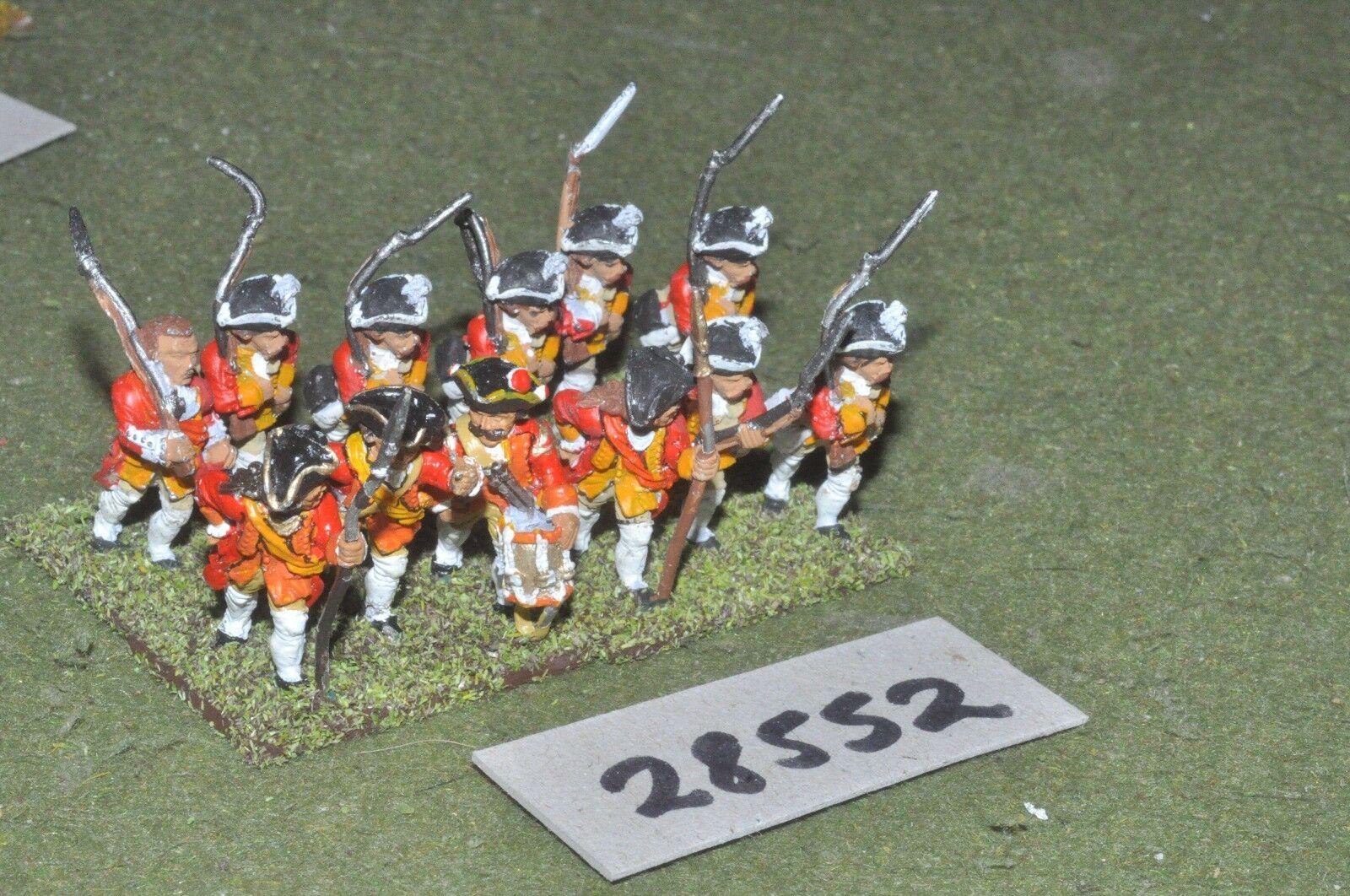 25mm 7YW   german states - regt. 12 figures - inf (28552)