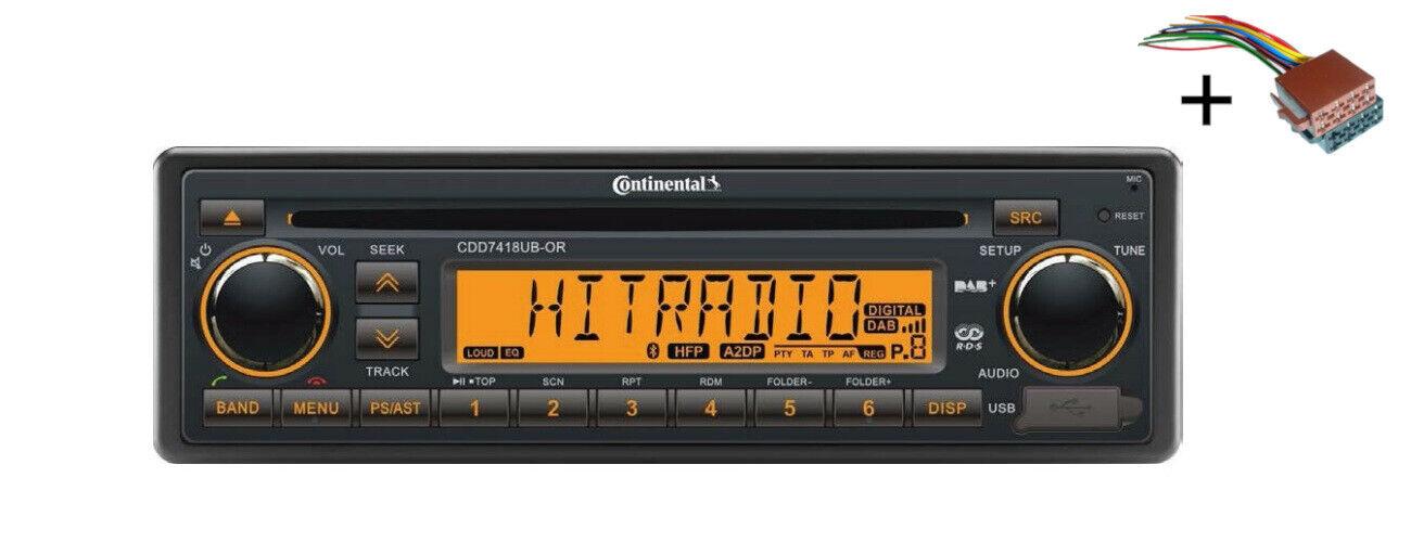VDO CD Radio USB MP3 WMA DAB DAB + DMB BT 12V + Cable CDD7418UB-OR Marina Barco