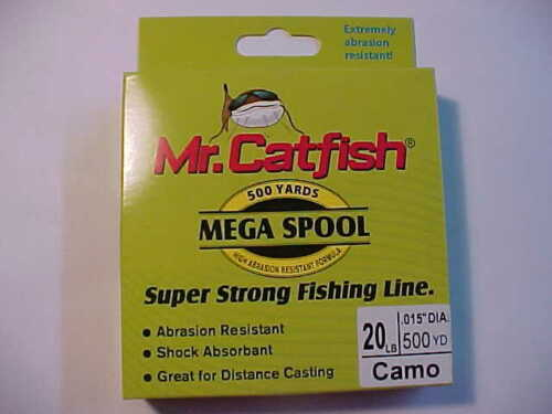 MR CATFISH SUPER STRONG  FISHING LINE 20 LB pound 500 YDS  CAMO