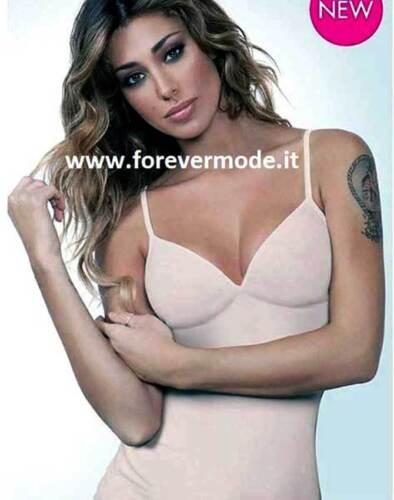 Canottiera donna Jadea spalla stretta in eco cotone con forma del seno art 2009