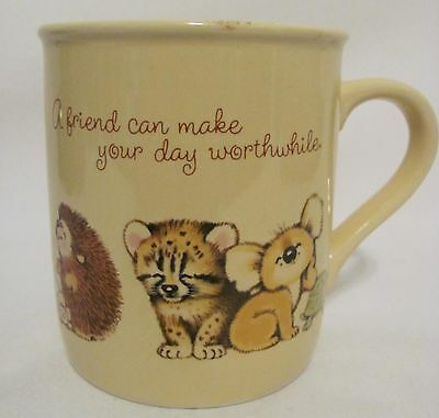 HALLMARK CARDS MUG MATES MADE IN JAPAN FRIEND GET WELL COFFEE CUP MUG VINTAGE!