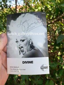 DIVINE-signed-photo-John-Walters-autograph-Pink-Flamingos-2