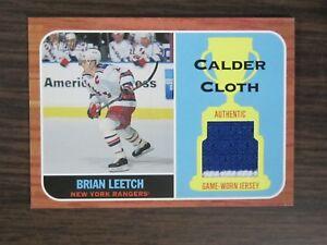 2002-03-Topps-Heritage-Calder-Cloth-Hockey-CC-BL-Brian-Leetch-Jersey-Card-B7