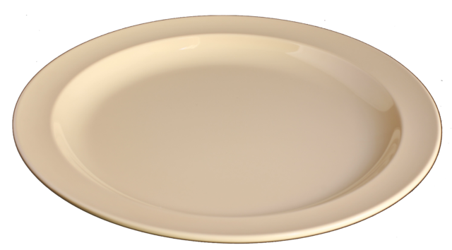 Yanco RM-106 Rome 6 Square Plate Pack of 48 White Color Melamine