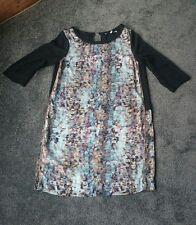 Sun Light Designer Turquoise Shell Dress Size 2 (M) 12 Formal Office Sheer Back