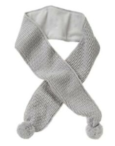 GYMBOREE-BUTTERFLY-GARDEN-GRAY-CABLE-POM-SWEATER-SCARF-1-SIZE-NWT
