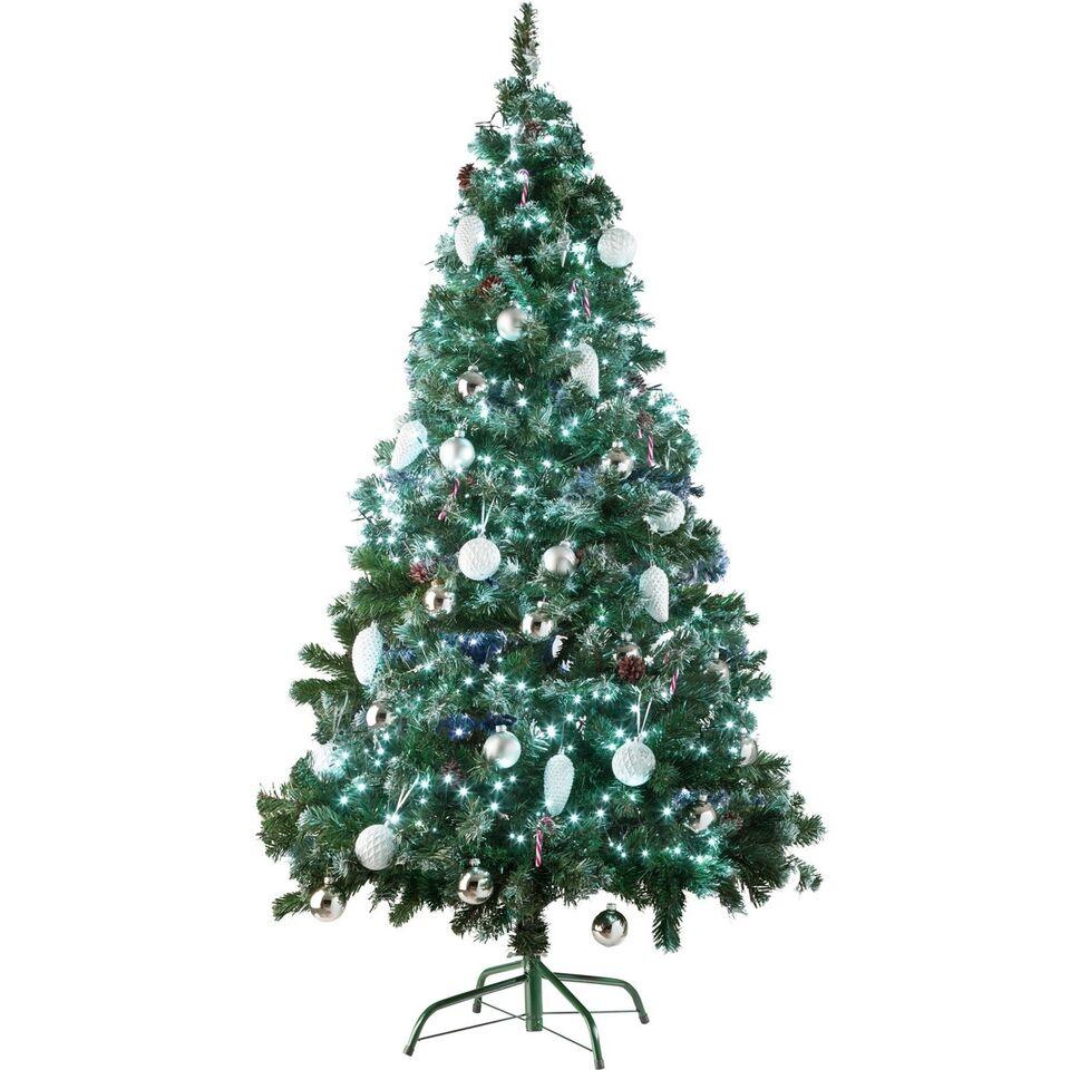 Kunstigt juletræ 180 cm 705 grene og kogler...