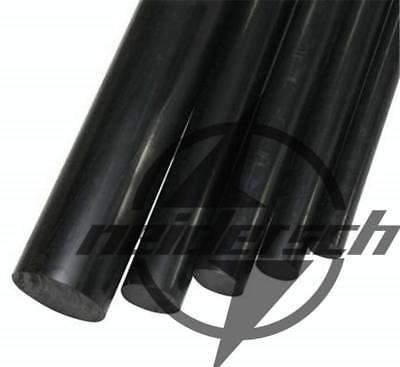 1pcs PA Plastic Round Rod Stick Nylon Polyamide 20mm x 250mm Black New
