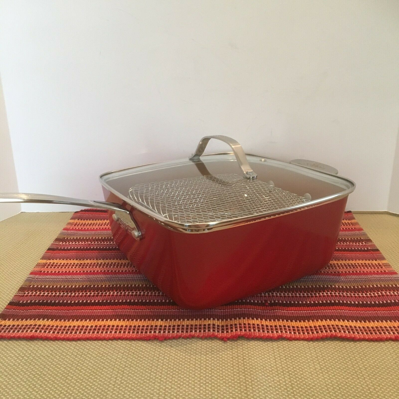 5 Pièce Steamer Friteuse 10  Square Stove Top Pan