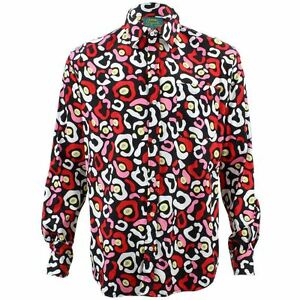 366cfffeb Image is loading Mens-Loud-Shirt-Retro-Psychedelic-Funky-Party-TAILORED-