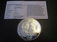 Medaille Gekrönte Häupter Europas, Willem und Maxima   #1365