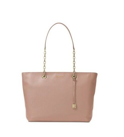 a1adf81ee0bf Michael Kors Mercer Chain Top Zip Leather Multifunction Tote Soft Pink for  sale online