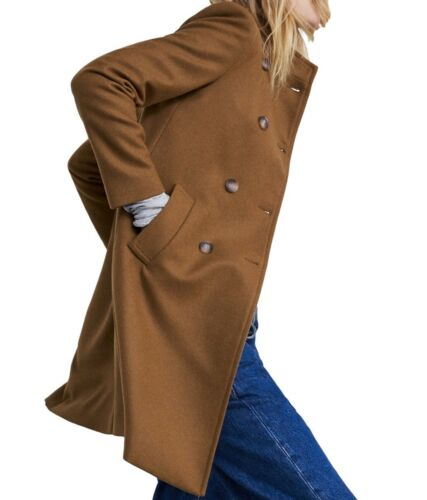 caramel Manteau 8559 Zara Aw18 L et nwt xs XL col Rare boutonné XL montant à S M 699 xf4Wp
